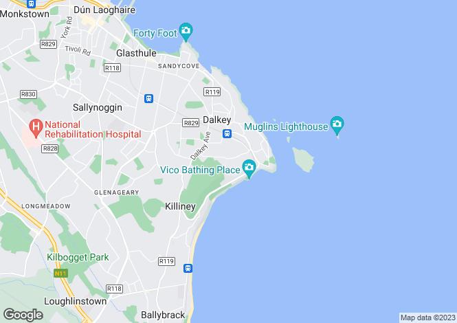 Map for Osmunda, Torca Road, Dalkey, Co Dublin