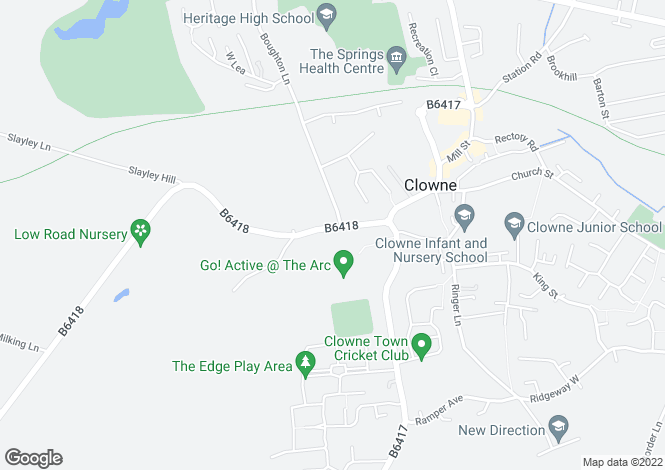 Map for 119, High Street, Clowne, Chesterfield, Derbyshire