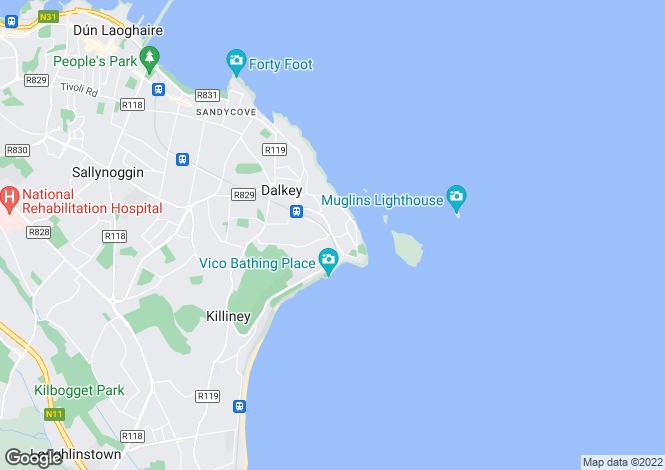 Map for Dalkey, Dublin
