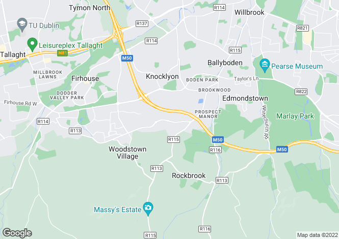 Map for 4 Bedroom Homes, White Pines, Stocking Avenue, Rathfarnham, Dublin 16