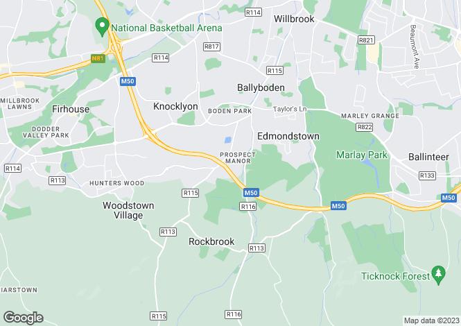 Map for 51 Prospect View, Prospect Manor, Rathfarnham, Dublin 16