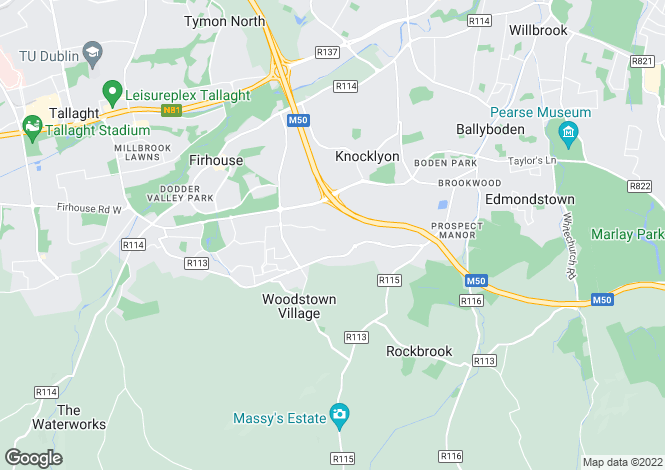 Map for 11 Woodstown Abbey, Knocklyon, Dublin 16, D16 TW26