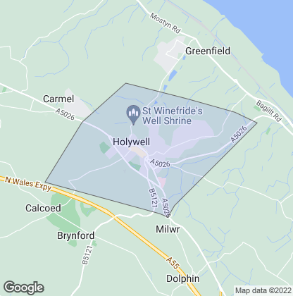 Map of property in Holywell