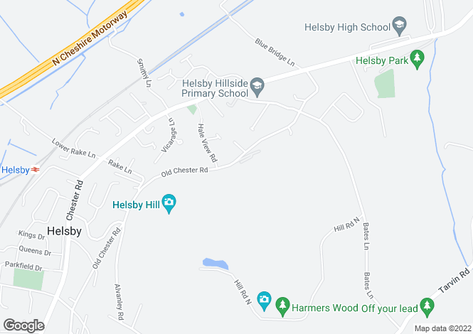 Map for Woodlands Old Chester Road, Helsby, Frodsham, WA6