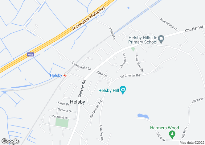 Map for Rake Lane, Helsby, FRODSHAM
