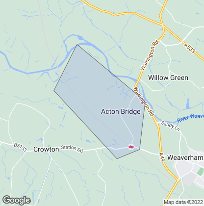 Map of property in Acton Bridge