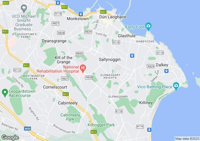 Map for Sallynoggin, Dublin