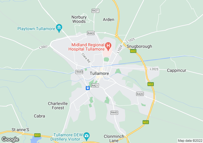 Map for Wok Inn, Kilbride Street, Tullamore, Offaly
