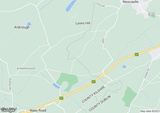 Map for Straffan, Kildare