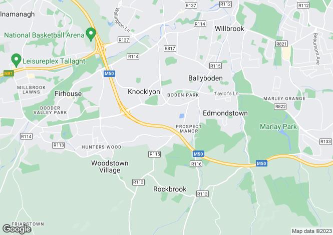 Map for 194 Woodfield, Rathfarnham, Dublin 16