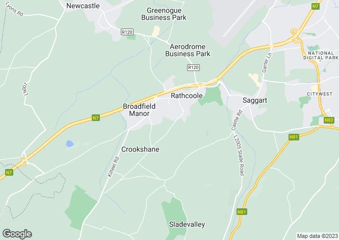 Map for Stoney Lane , Rathcoole, Co.Dublin c.7 acres Development Land