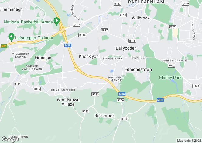 Map for 181 Woodfield, Rathfarnham, Dublin 16, D16 R8X9