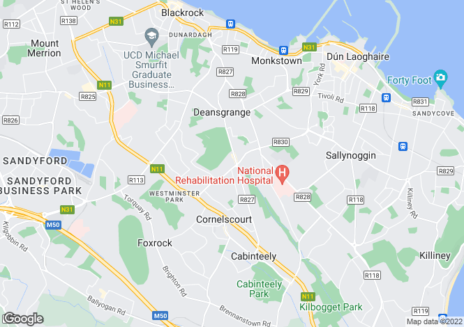 Map for 254 Foxrock Close, Foxrock, Dublin 18