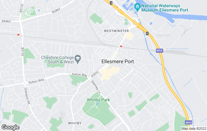 Map for Entwistle Green, Ellesmere Port