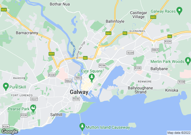 Map for 57 Cill Ard, Bohermore, Galway