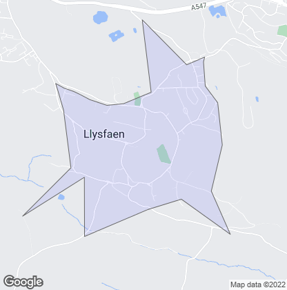 Map of property in Llysfaen
