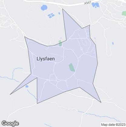Map of property in Llysfaen
