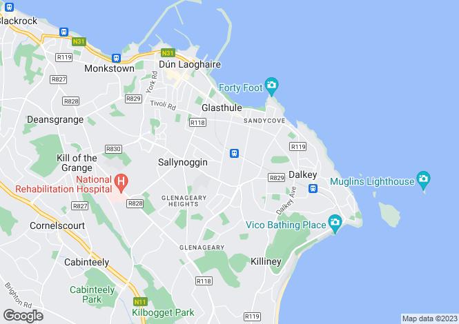Map for Larkvale, 27 Marlborough Road, Glenageary, Co Dublin