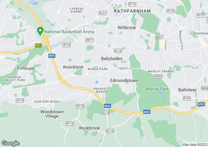 Map for 9 Beech Walk, Brookwood, Rathfarnham, Dublin 16