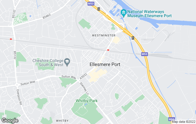 Map for White Heather Estates, Ellesmere Port