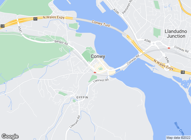Map for Beresford Adams, Conwy
