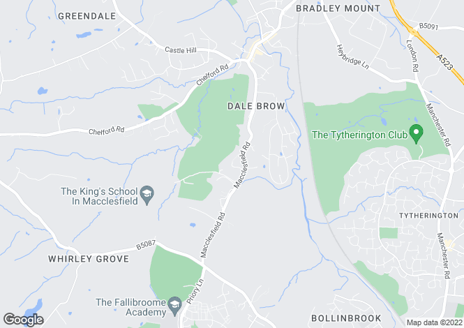 Map for 2 Fallibroome House, Golf Club Drive, Prestbury, Cheshire SK10 4BH
