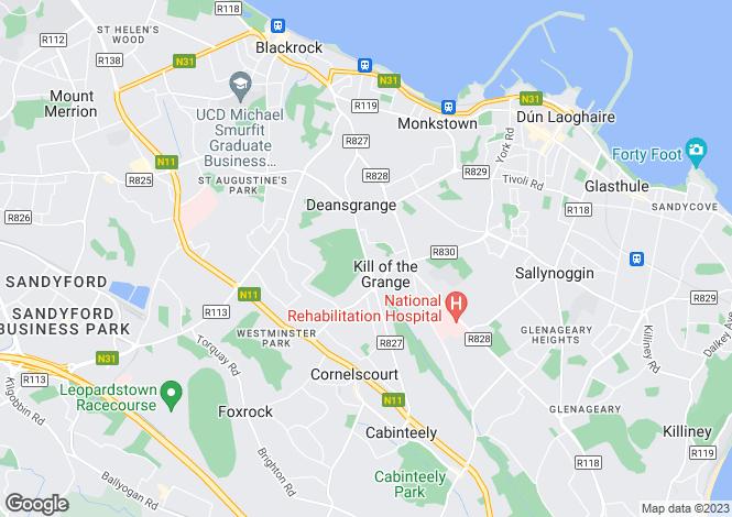 Map for 16 Grange Terrace, Blackrock, Co. Dublin