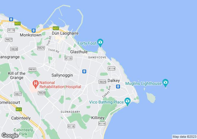 Map for Wolverton Glen, Castle Park Road, Dalkey, Co. Dublin