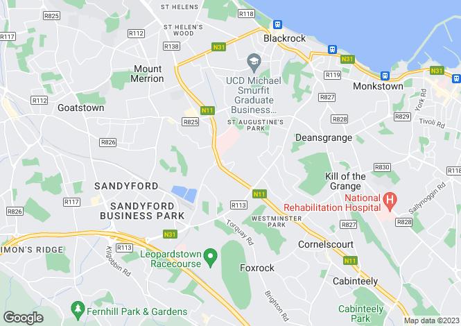 Map for Apt 152 Beechwood Court, Blackrock, Co. Dublin