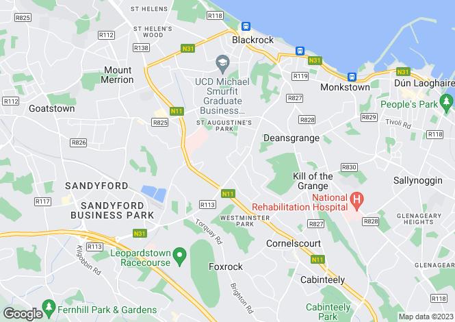Map for Ardagh Drive, Blackrock, Co. Dublin