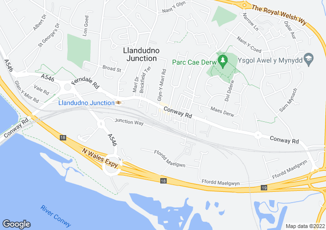 Map for River View, Llandudno Junction, LL31 9DY