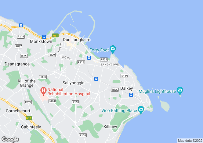 Map for Cabo, Marine Court, Off Lower Albert Road, Sandycove, Co Dublin, A96A7N6