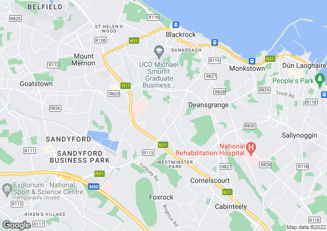 Map for 12a Ardagh Avenue, Blackrock, Co. Dublin