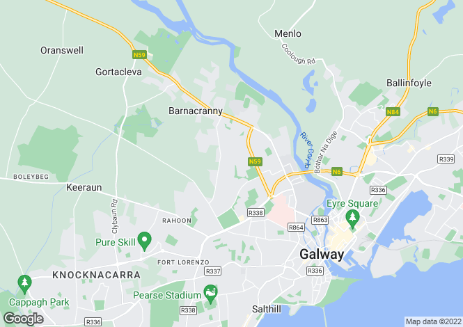 Map for 41 The Baily, Circular Road, Galway