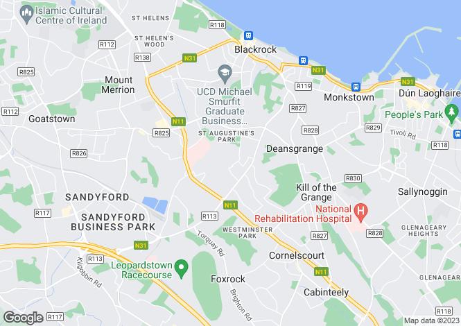 Map for 12 Ardagh Avenue, Blackrock, Co Dublin