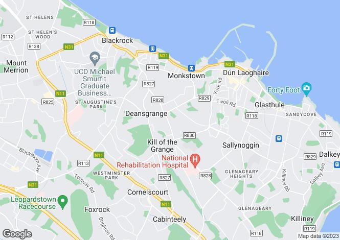Map for Monkstown, Dublin