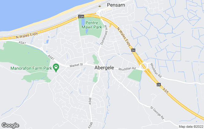 Map for Prys Jones & Booth, Abergele