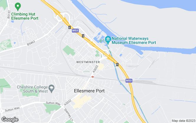 Map for ABC Property Shop, Ellesmere Port