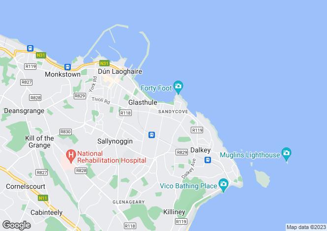 Map for Sandycove, Dublin