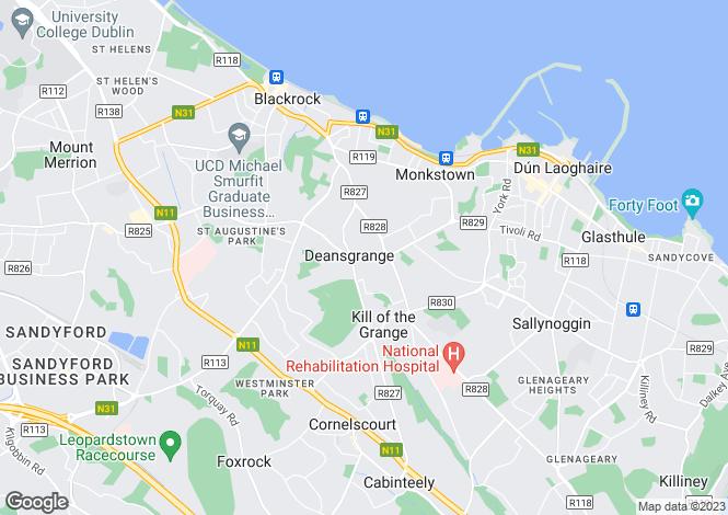 Map for 17 Grange Grove, Blackrock, Co Dublin