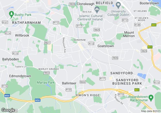 Map for Westerton House, Westerton Rise, Dundrum, Dublin 16