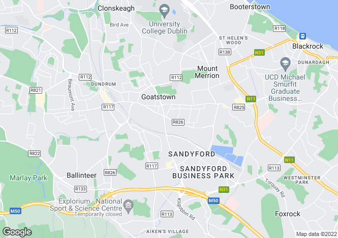 Map for 2 Bed Apartments, Stillorgan Gate, Upper Kilmacud Road, Co. Dublin