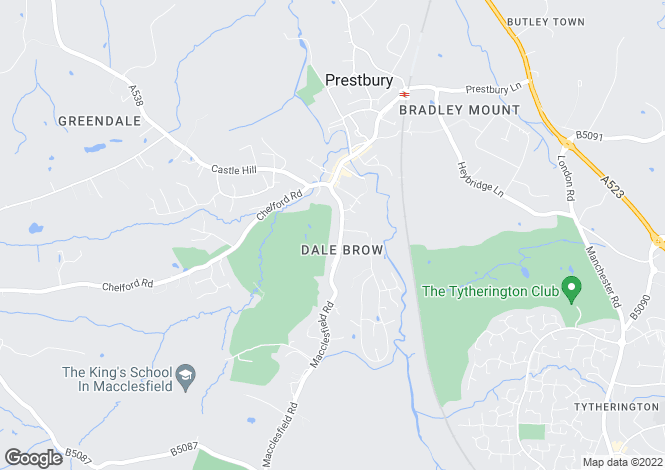Map for Macclesfield Road, Prestbury, Macclesfield, Cheshire