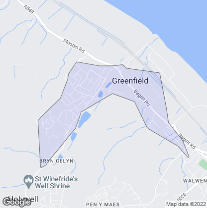 Map of property in Greenfield