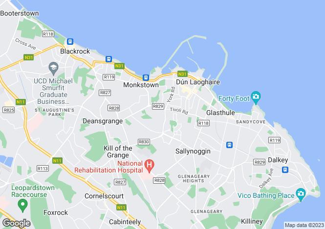 Map for Glandore House, Glandore Park, Dun Laoghaire, County Dublin