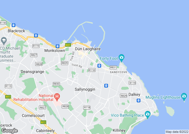 Map for 2 Granite Hall, Rosmeen Gardens, Dun Laoghaire, Co Dublin, A96 CK72