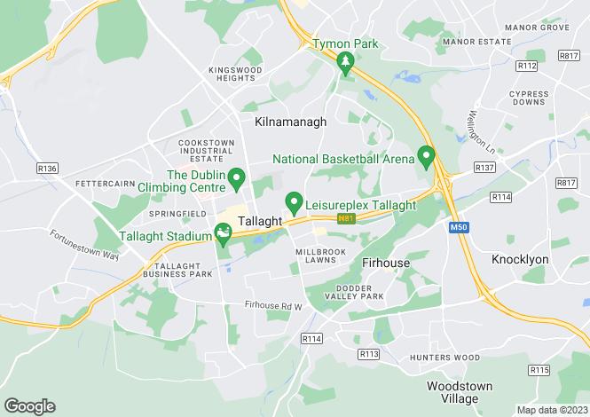 Map for 1 Main Street, Tallaght, Dublin 24
