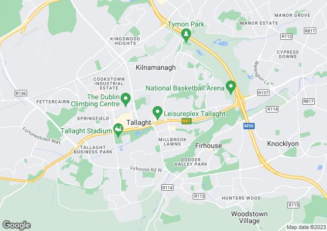 Map for 8 Westpark, Tallaght,   Dublin 24