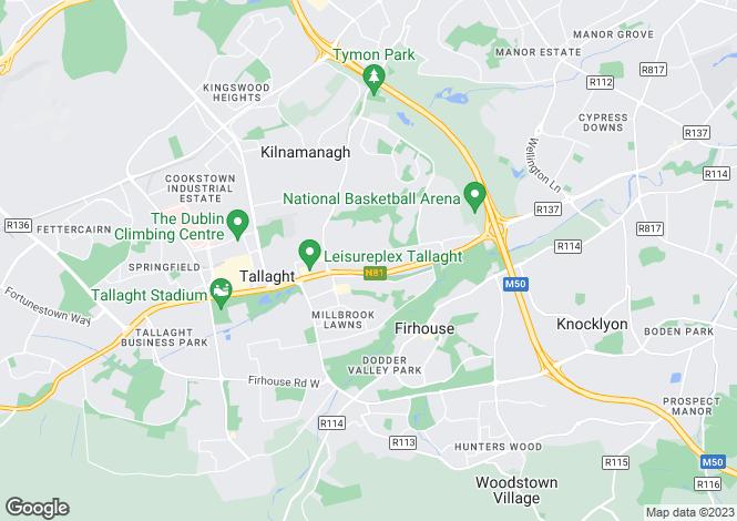 Map for 55 Moynihan Court, Tallaght,   Dublin 24
