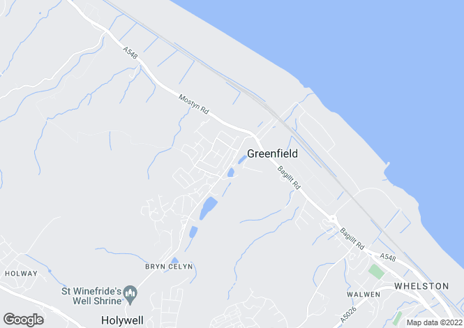 Map for Greenfield Road, Greenfield, Holywell, Flintshire